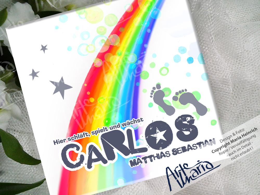 Artemaria namensschild carlos kinderzimmer schild for Namensschild kinderzimmer
