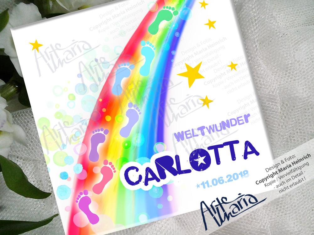 ArteMaria - Namensschild CARLOTTA© | Kinderzimmer-Schild | Türschild ...