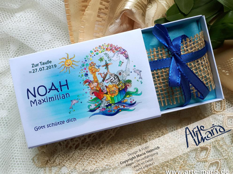 Artemaria Geldgeschenk Geschenkkarton Arche Noah Inkl
