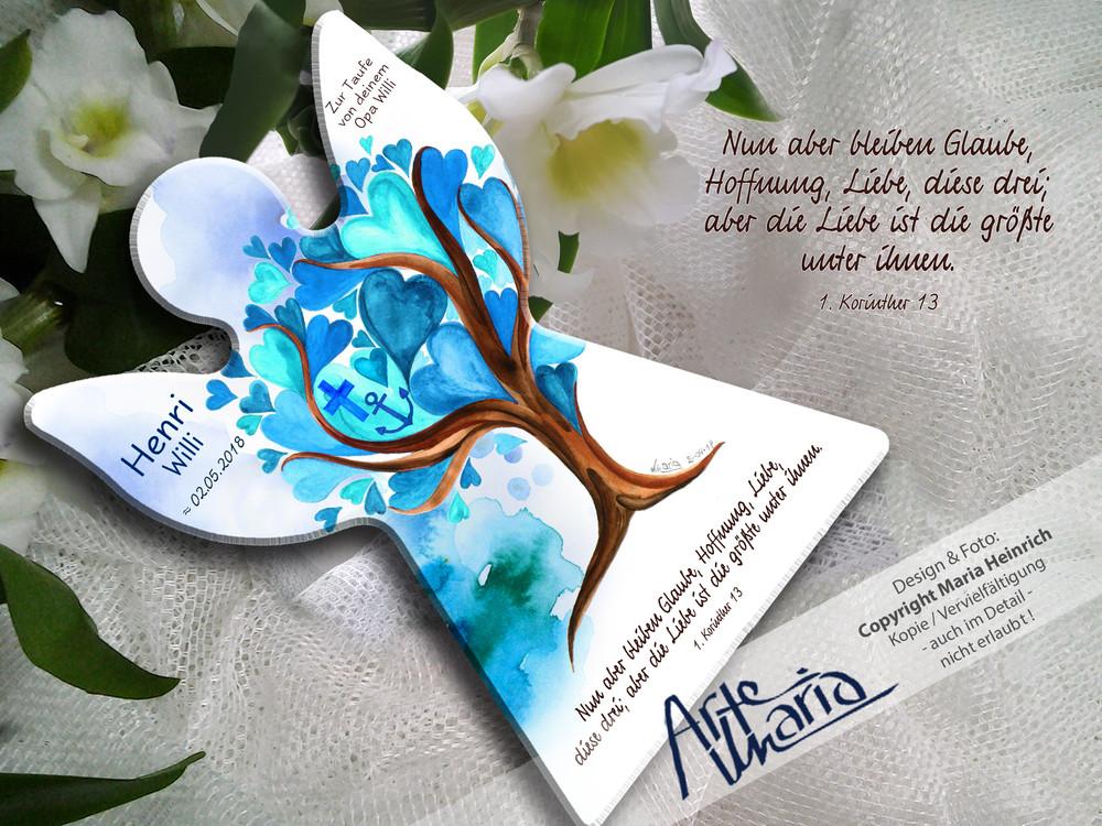Artemaria Schutzengel Henri Willi Blau Herzchenbaum