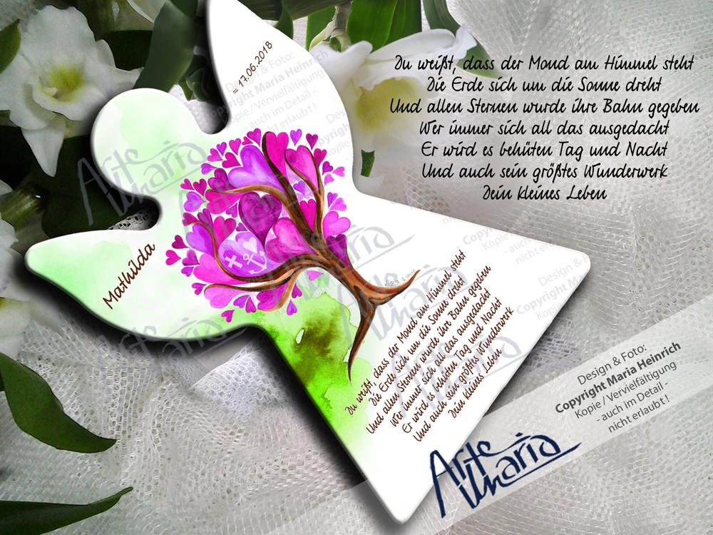 Artemaria Schutzengel Mathilda Pink Grünherzchenbaum