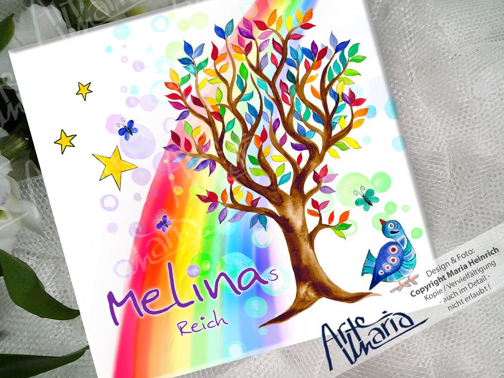 Artemaria Namensschild Melina C Kinderzimmer Schild Turschild