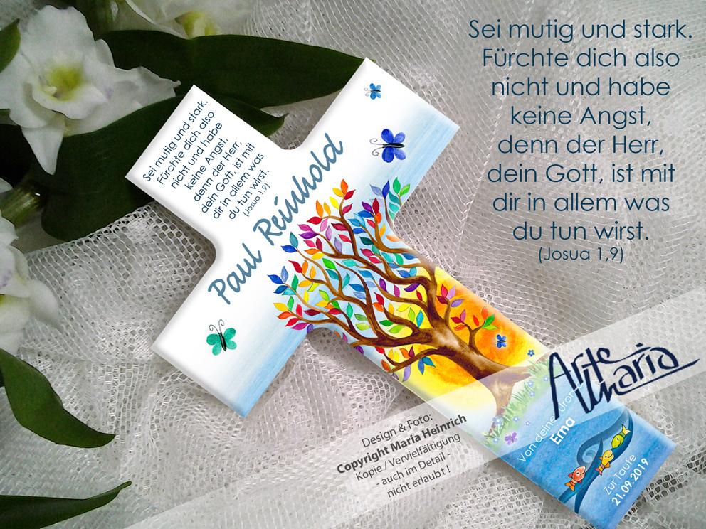 Artemaria Taufkreuz Paul Lebensbaum Sonnenaufgang