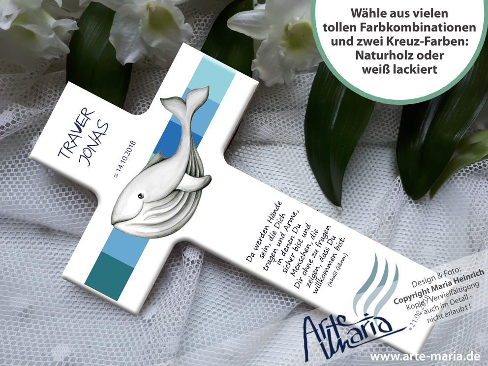 Artemaria Taufkreuz Traver Walfisch Wal Taufe